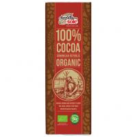 Шоколад черный органический без сахара 100% какао, 25 грамм