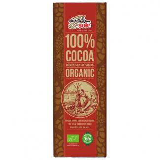 Шоколад черный органический без сахара 100% какао, 25 г. фото №1