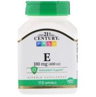 Витамин Е 180 мг, 110 мягких желатиновых капсул
