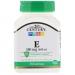 Витамин Е 180 мг, 110 мягких желатиновых капсул 21st CENTURY  фото №1