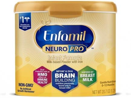 Enfamil NeuroPro Baby Formula Milk Powder Reusable Tub, 20.7 oz -Brain Building Nutrition Inspired by Breast Milk-Omega 3 DHA, Non-GMO, MFGM, Prebiotics, Iron & Immune Support фото №1