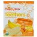 Organic Teethers, вафли для мягкого прорезывания зубов у малышей, батат и банан, 12 пакетиков по 4 грамма Happy BABY фото №1