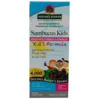 Бузина для иммунитета детям Sambucus Kid's Formula, 120 мл