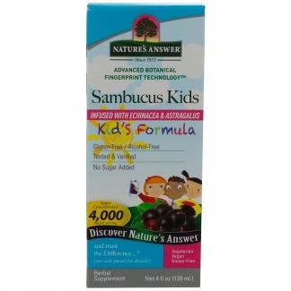 Бузина для иммунитета детям Sambucus Kid's Formula, 120 мл фото №1