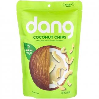 Toasted coconut chips натуральные кокосовые чипсы. 90 грамм фото №1