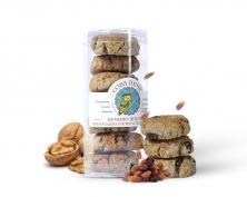 Натуральное овсяное печенье с изюмом и грецким орехом 150гр