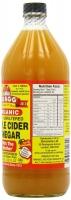 Raw apple cider vinegar organic Нефильтрованный органический яблочный уксус 946 мл