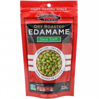Сухие обжаренные зеленые соевые бобы Эдамаме с морской солью 113 г фото №1