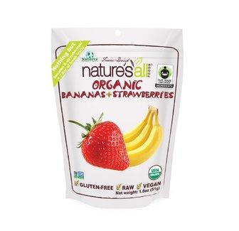 Organic Bananas + Strawberries, Органические банан и клубника (сублимированные). 51 грамм фото №1