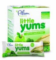 Little Yums organic teething wafers Органические вафельки со шпинатом, яблоком и кейл. 84 грамм