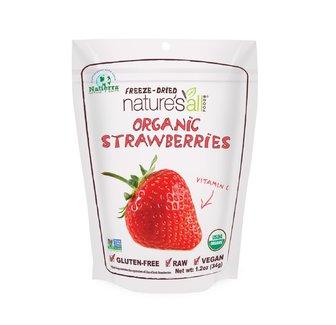 Organic Strawberries, Органическая сублимированная клубника. 34грамма фото №1