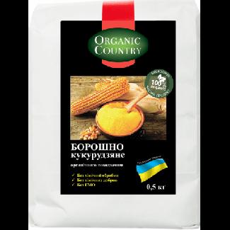 Мука кукурузная органическая 500грм фото №1