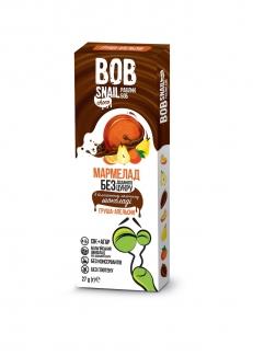 Натуральний мармелад без сахара с бельгийским шоколадом, груша-апельсин 27 грм фото №1