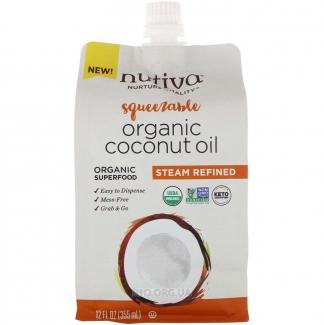Органическое рафинированное кокосовое масло, полученное перегонкой с паром 355 мл фото №1