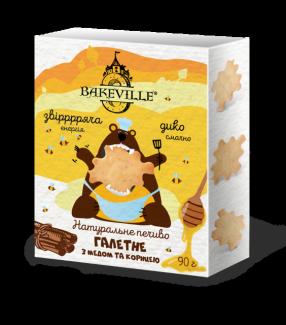 Натуральное галетное печенье с медом и корицей 90г фото №1