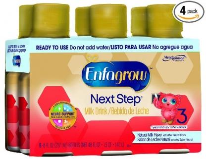 Enfagrow Milk Drink Жидкая молочная смесь от 1 до 3 лет (6 бут. по 237 мл., всего 1 литр 420мл) фото №1