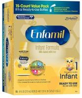 Infant Formula Детская жидкая молочная смесь с железом для детей от 0 до 12 месяцев, (15 бутылочек по 237мл)