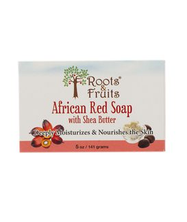 African Red Soap with Shea Butter Африканское красное мыло с маслом Ши 141г фото №1