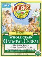 Whole Grain Oatmeal Cereal, Органическая цельнозерновая овсяная каша. С 6 месяцев. 227 грамм