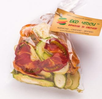 Эко чипсы кабачок+тыква+помидор 50 грамм фото №1