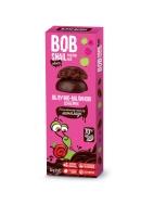 """Натуральные яблочно-малиновые конфеты без сахара с шоколадом """"Улитка Боб"""" 30 грамм"""