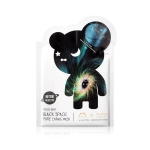 Двухфазная маска для сужения пор THE OOZOO Oozoo BEAR Black space pore caring mask
