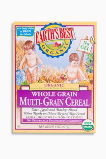 Whole Grain Multi-Grain Cereal, Органическая цельнозерновая мультизлаковая каша. С 6 месяцев. 227 грамм фото №1