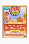 Whole Grain Oatmeal Cereal with Bananas, Органическая цельнозерновая овсяная каша с бананом. С 6 месяцев. 227 грамм