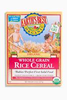 Whole Grain Rice Cereal, Органическая цельнозерновая рисовая каша. С 6 месяцев. 227 грамм