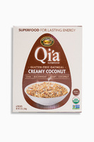 Qia Gluten Free Oatmeal Creamy Coconut Органический безглютеновый сириал из овсянки, суперфудов и кокоса. 228 грамм.