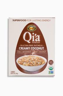 Qia Gluten Free Oatmeal Creamy Coconut Органический безглютеновый сириал из овсянки, суперфудов и кокоса. 228 грамм. фото №1