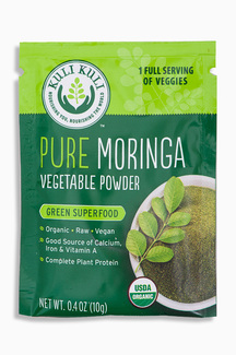 Pure Moringa vegetable Powder, суперфуд органическая моринга. 10 грамм  фото №1