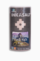 INKASALT Fair Trade Pink Salt Fine, натуральная инка-соль. Мелкозернистая. 368.5 грамм