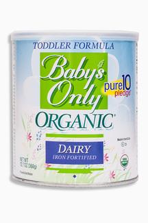 Dairy Iron Fortified, Органическая молочная смесь Baby's Only. С 12 месяцев. 360 грамм  фото №1
