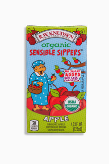 Organic Sensible Sippers, органический яблочный сок без добавления сахара. 125 мл.  фото №1