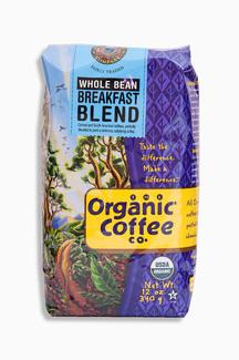 Whole Bean Breakfast Blend, Органический кофе в зернах премиум обжарки. 340 грамм. фото №1