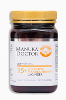Bio Active Manuca Honey with Ginger, Манука Мед с имбирем Bio Active 15+. 500 грамм