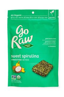 Sweet Spirulina Sprouted Bites, Органические кранчи из спирулины. 85 грамм фото №1