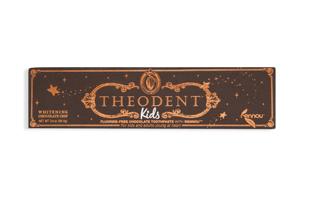 Luxury kids chocolate toothpaste with rennow, детская зубная паста с экстрактом какао-бобов без фтора со вкусом шоколада 96,4гр фото №1