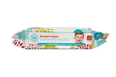 Honest Wipes Натуральные влажные салфетки. 72 шт фото №1