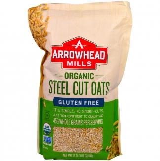 Gluten Free Steel Cut Oats, каша овсяная цельнозерновая, 680 грамм фото №1