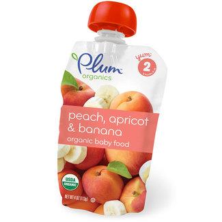 Organic Baby Food Peach, Apricot and Banana, Органическое пюре из персика, абрикоса и банана. Второй прикорм. 113 грамм  фото №1