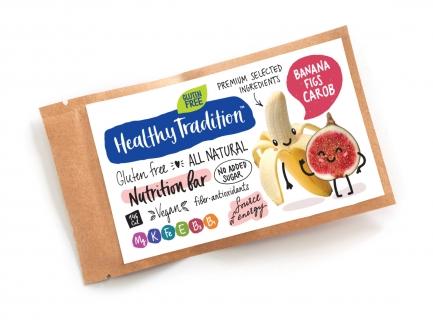 "Healthy Tradition Батончик без сахара, ""Nutrition bar Банан, инжир"", 38 г фото №1"