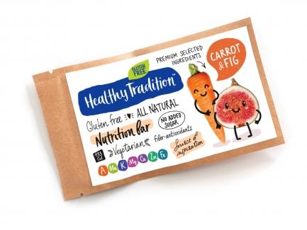 "Healthy Tradition Батончик без сахара ""Nutrition bar Морковь, инжир"", 38г фото №1"
