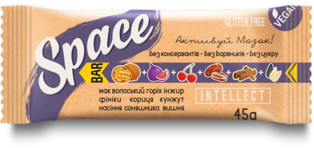 Space Bar Батончик Intellect 45 грамм фото №1
