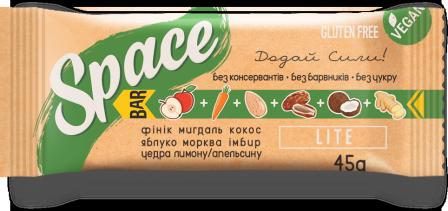 Space Bar Батончик без сахара Lite 45 грамм фото №1