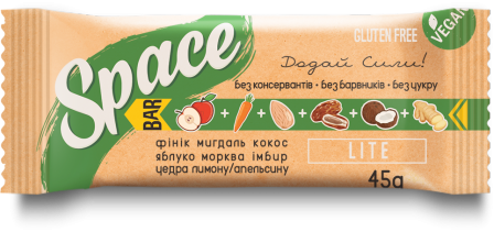 Space Bar Батончик Lite 45 грамм фото №1