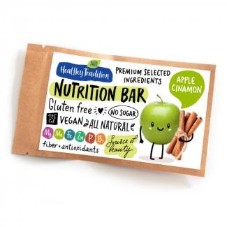 "Healthy Tradition Батончик без сахара ""Nutrition bar Яблоко, корица"", 38г фото №1"