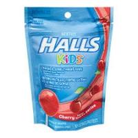 Детские леденцы от кашля и боли в горле со вкусом вишни, HALLS KIDS 10 шт