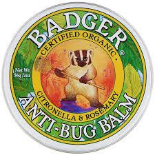 Органический бальзам от насекомых, Badger Company, 56 грамм фото №1